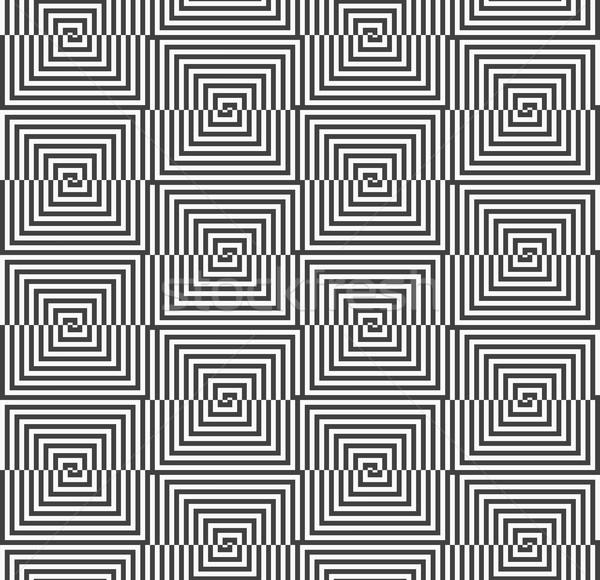 Siyah beyaz yarım kareler vardiya geometrik Stok fotoğraf © Zebra-Finch