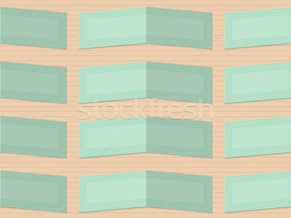 レトロな 薄緑 幾何学的な 飾り パターン 効果 ストックフォト © Zebra-Finch