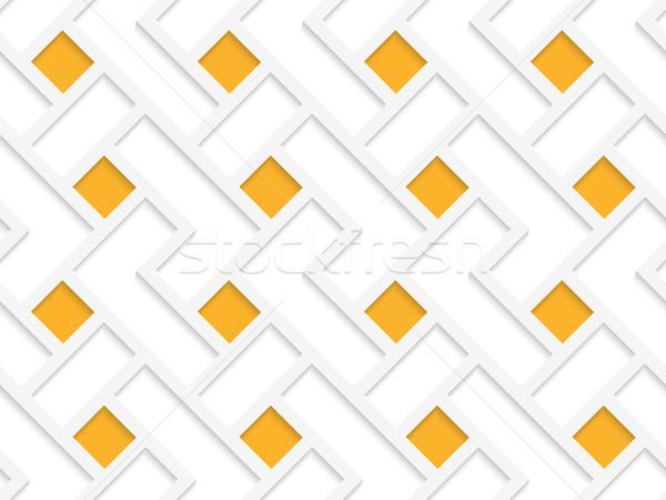 Biały 3D kolory pomarańczowy geometryczne Zdjęcia stock © Zebra-Finch