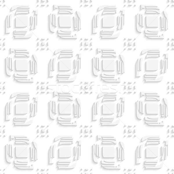 White leaves split ad rectangle groups seamless Stock photo © Zebra-Finch
