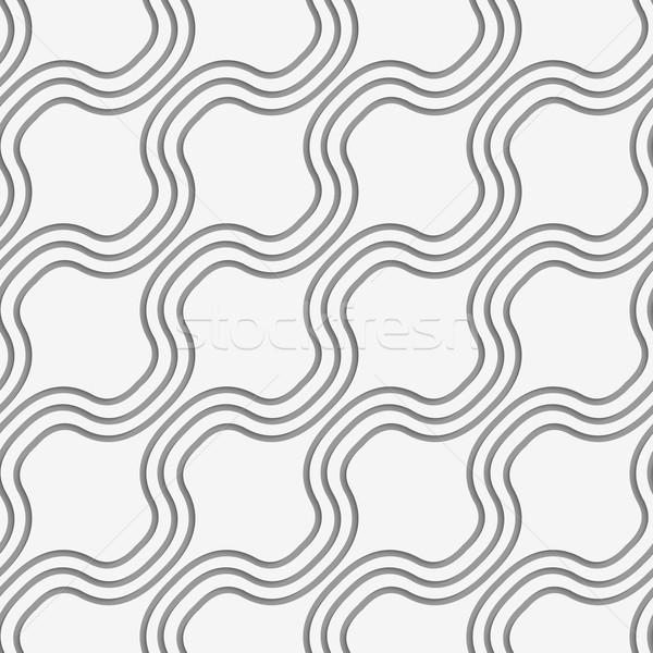 Perforated diagonal bulging waves Stock photo © Zebra-Finch