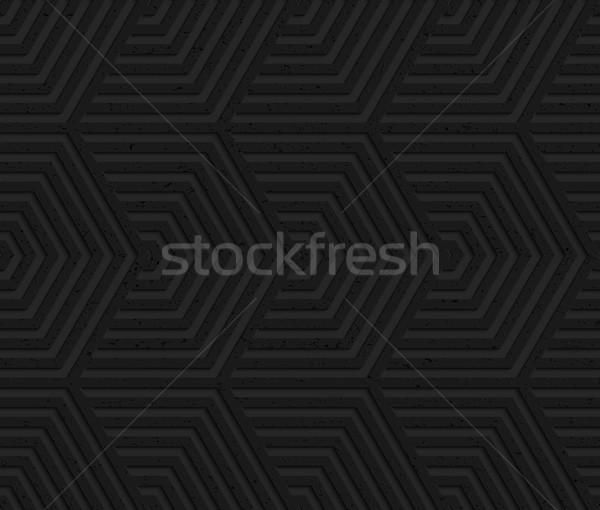 黒 プラスチック 抽象的な 幾何学的な パターン ストックフォト © Zebra-Finch