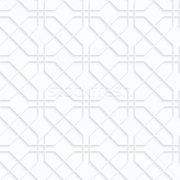 Bianco carta geometrica 3D Foto d'archivio © Zebra-Finch