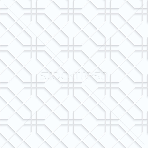 Beyaz kâğıt geometrik 3D Stok fotoğraf © Zebra-Finch