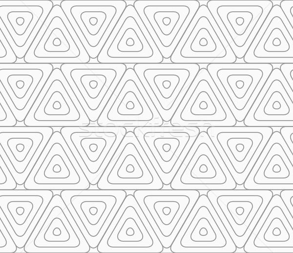 スリム グレー シームレス スタイリッシュ 幾何学的な 現代 ストックフォト © Zebra-Finch
