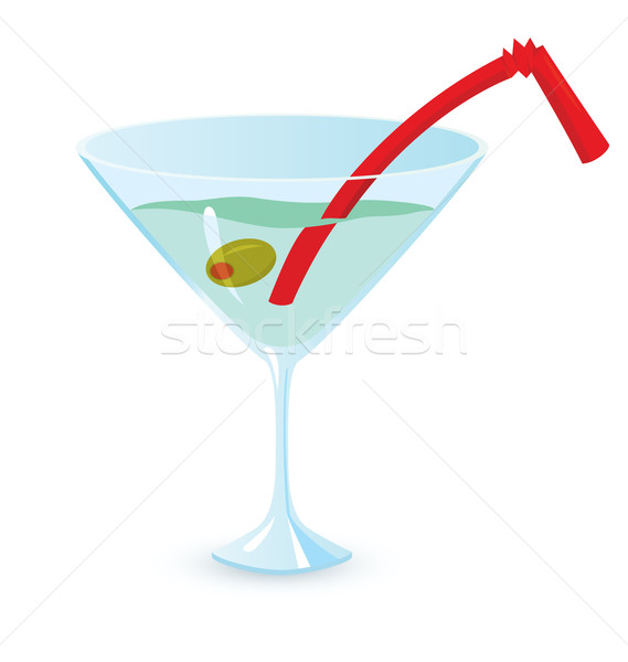 Martini cocktail vector illustratie geïsoleerd Stockfoto © Zebra-Finch