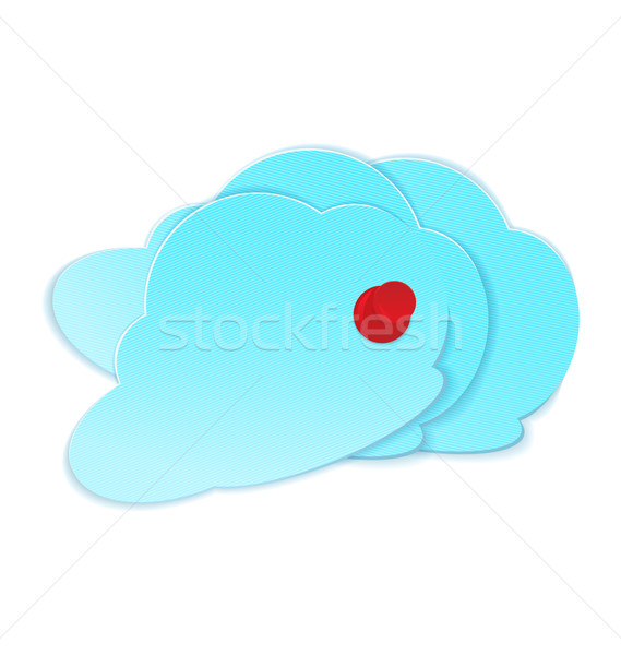 Clouds with pushpin vector Stock photo © Zebra-Finch