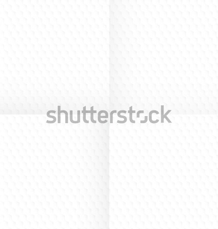 White abstract hexagon textured with folds Stock photo © Zebra-Finch