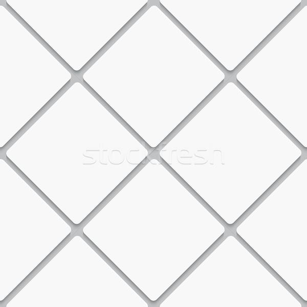 Végtelenített fehér átló tér csempék valósághű Stock fotó © Zebra-Finch