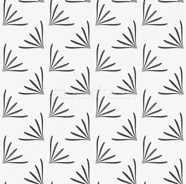 Ornamento geométrico floral formas blanco sin costura Foto stock © Zebra-Finch