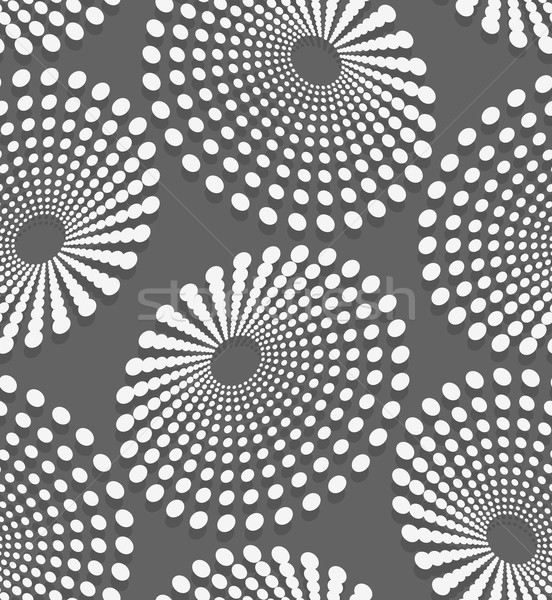 Geometrical pattern with white dotted  concentric ovals Stock photo © Zebra-Finch