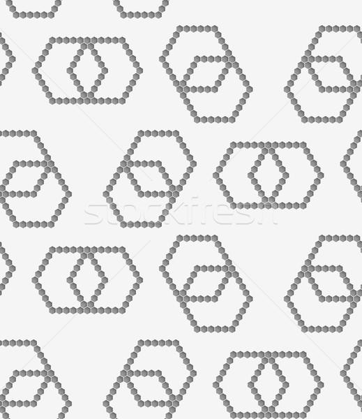 Papieru nieskończoność elegancki 3D wzór Zdjęcia stock © Zebra-Finch