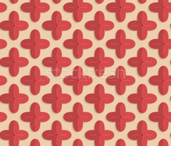 Retro fold red four pedal flowers Stock photo © Zebra-Finch