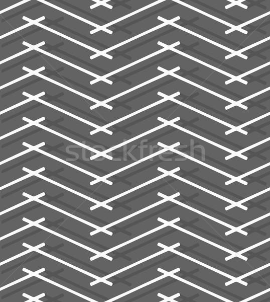 монохромный шаблон серый линия бесшовный Сток-фото © Zebra-Finch