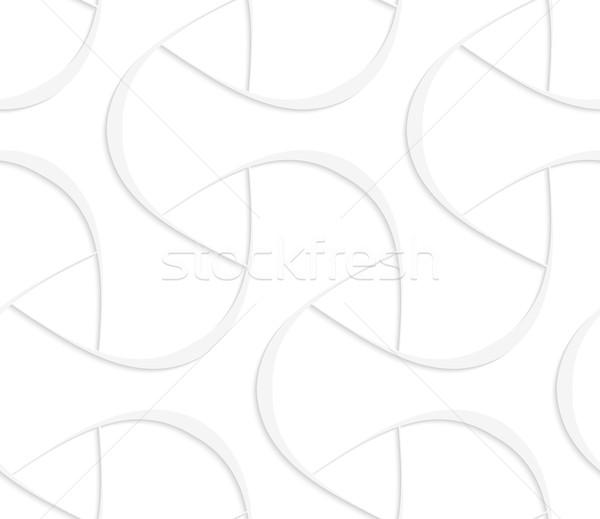 3D white triangular with offset Stock photo © Zebra-Finch