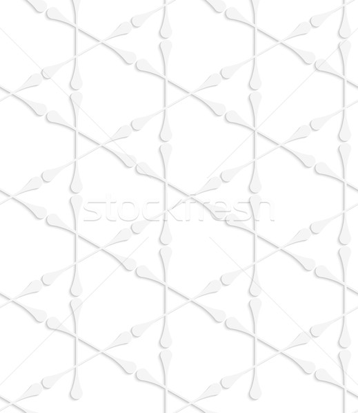 Paper white clubs forming triangles Stock photo © Zebra-Finch