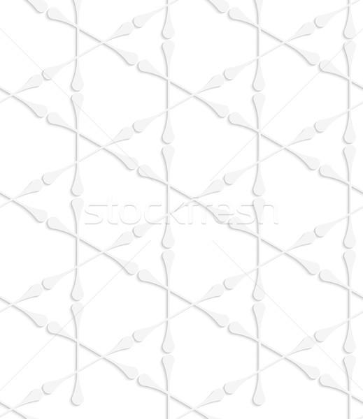 Papieru biały bezszwowy efekt realistyczny Zdjęcia stock © Zebra-Finch