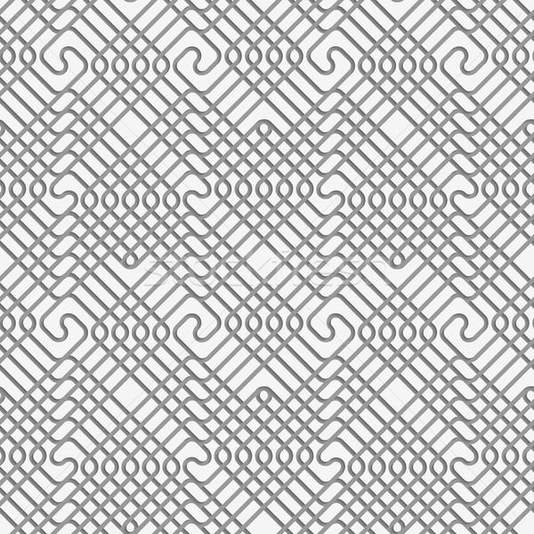 Placu bezszwowy geometryczny wzór realistyczny cień 3D Zdjęcia stock © Zebra-Finch