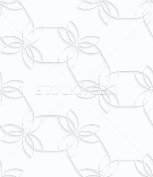 白 紙 花 幾何学的な 3D ストックフォト © Zebra-Finch