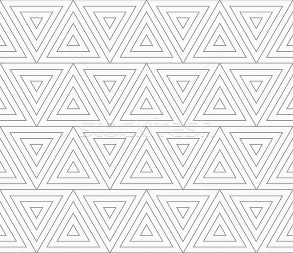 Slim gray triangles with offset  Stock photo © Zebra-Finch