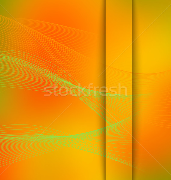 Smooth mesh wave orange and green with cut Stock photo © Zebra-Finch