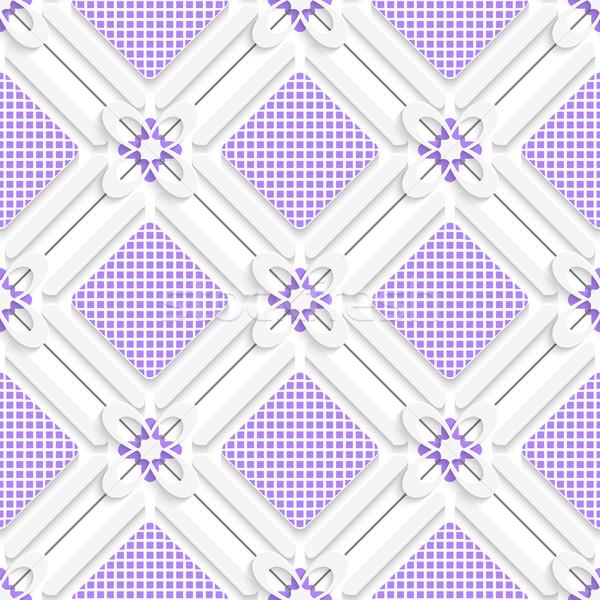 Diagonal purple checked squares pattern Stock photo © Zebra-Finch