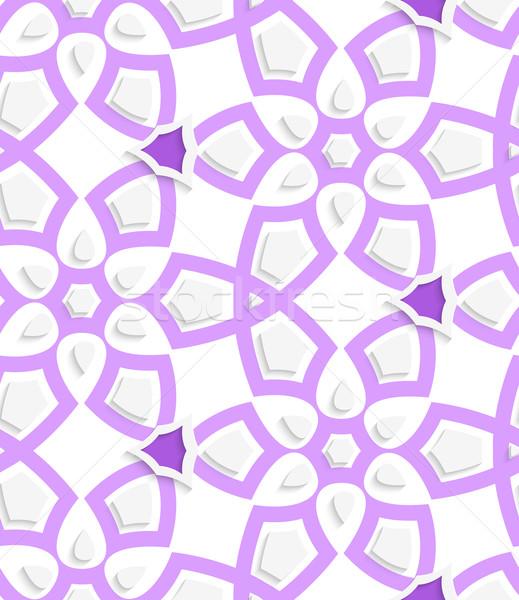 Purple layered floristic swirl lace seamless pattern Stock photo © Zebra-Finch