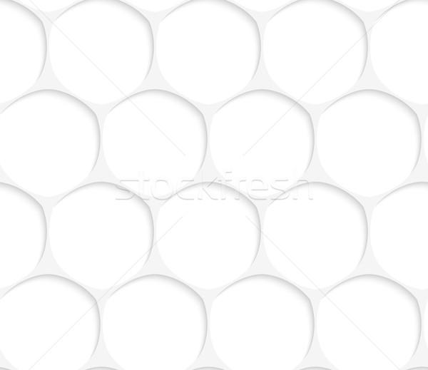3D fehér ovális hálózat végtelenített geometrikus minta Stock fotó © Zebra-Finch