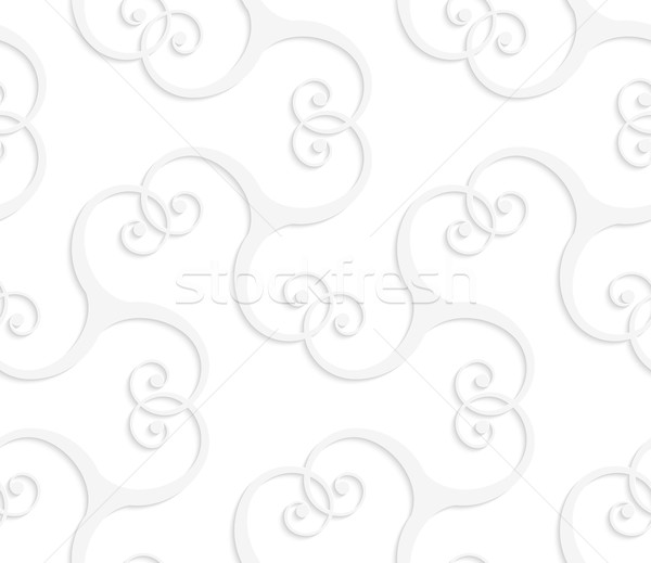 3D white swirls overlapping Stock photo © Zebra-Finch