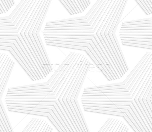 3D white triangular stars Stock photo © Zebra-Finch