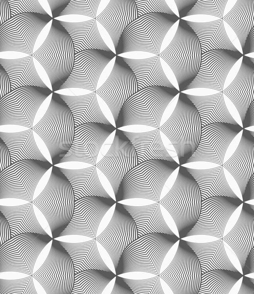 Monochrome striped puckered hexagons Stock photo © Zebra-Finch