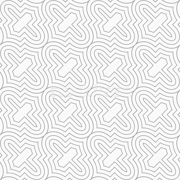 Ince gri diyagonal ızgara şık geometrik Stok fotoğraf © Zebra-Finch