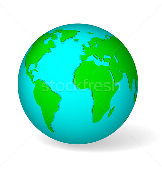 Blue globe vector Stock photo © Zebra-Finch