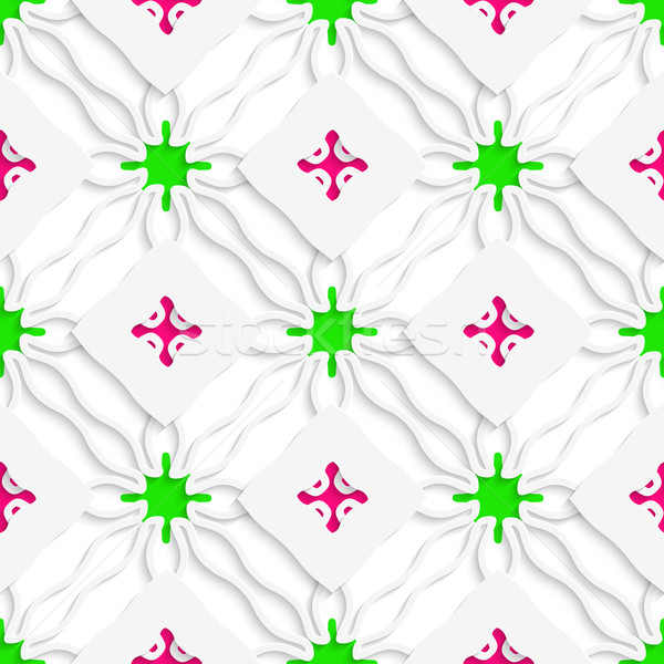 Wavy lines with pink and green seamless Stock photo © Zebra-Finch