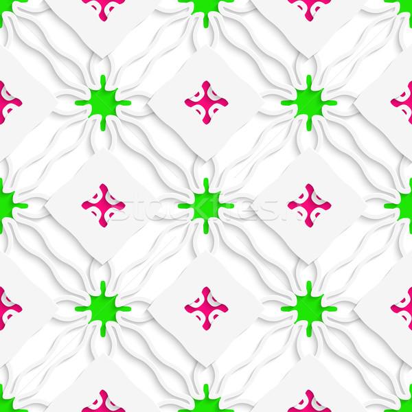Ondulado líneas rosa verde sin costura resumen Foto stock © Zebra-Finch