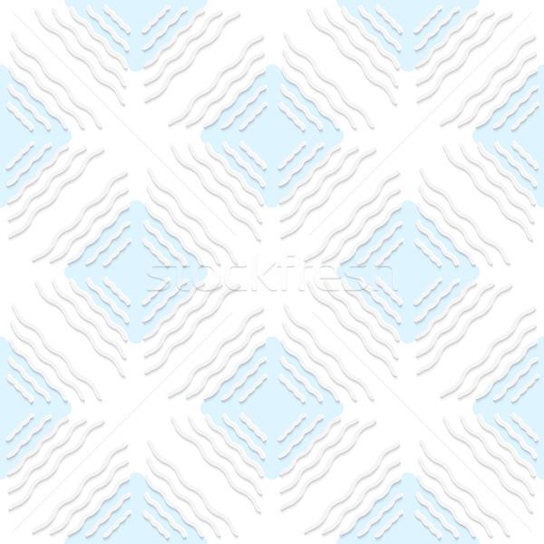 диагональ белый волнистый линия синий шаблон Сток-фото © Zebra-Finch