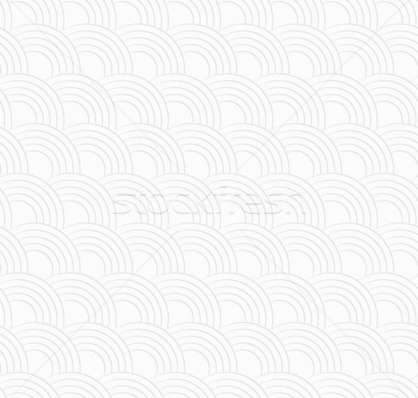 3D fehér mintázott fél körök végtelenített Stock fotó © Zebra-Finch