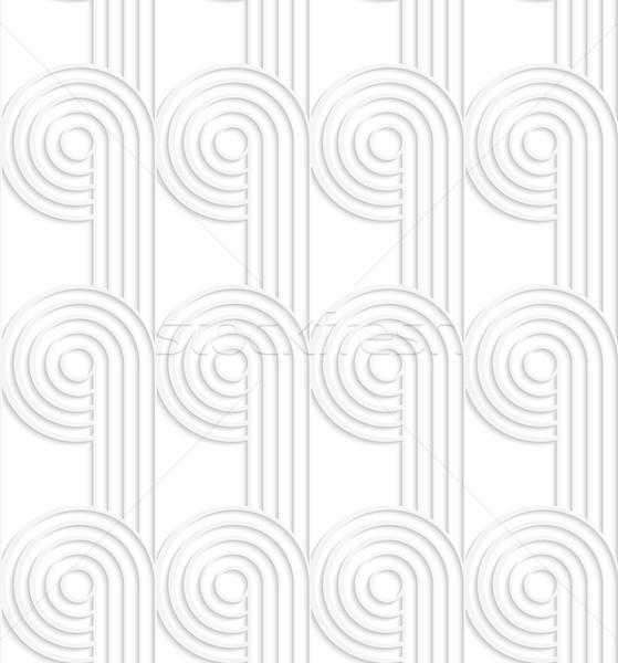 Circles biały szary Zdjęcia stock © Zebra-Finch