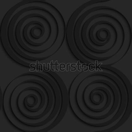 黒 3D シームレス 暗い パターン 現実的な ストックフォト © Zebra-Finch