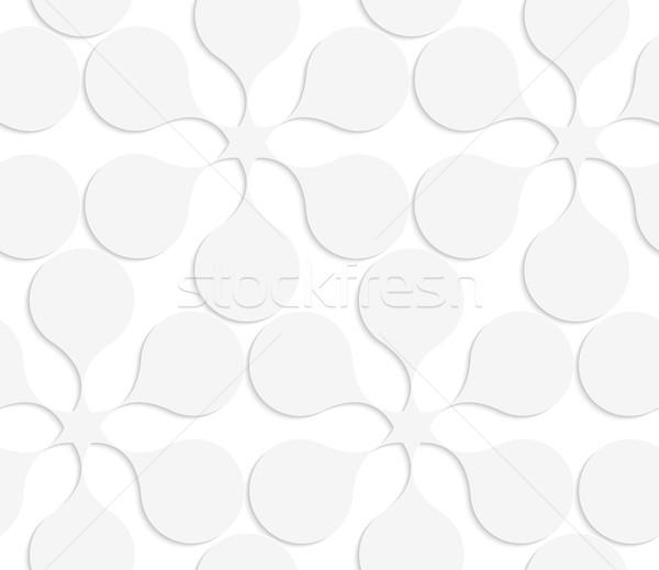 Papel branco sólido flores sem costura Foto stock © Zebra-Finch