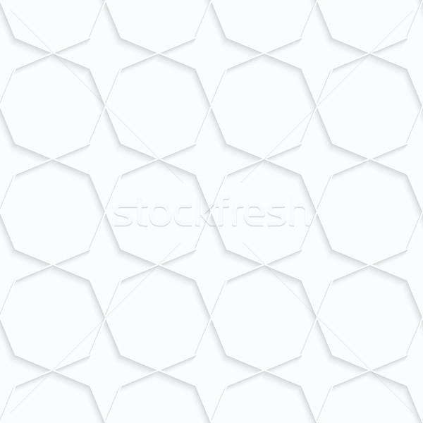 Kâğıt Yıldız geometrik 3D Stok fotoğraf © Zebra-Finch