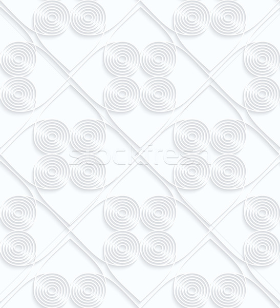 Quilling white paper circles with offset inside squares Stock photo © Zebra-Finch