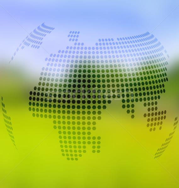 Elmosódott tájkép földgömb térkép háló használt Stock fotó © Zebra-Finch