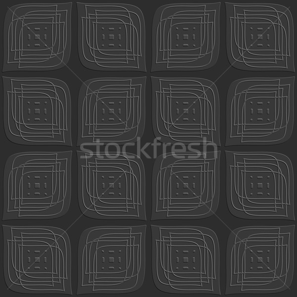 Dark gray leaves embossed with linear embossed details seamless Stock photo © Zebra-Finch