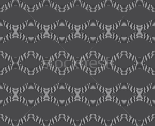 Repeating ornament horizontal wavy lines  Stock photo © Zebra-Finch