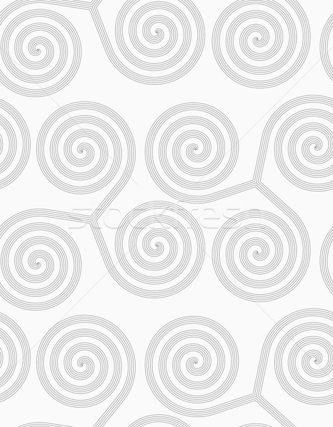 Slim gray striped spirals three turn Stock photo © Zebra-Finch