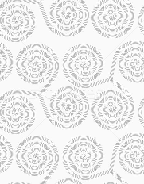 Ince gri çizgili üç çevirmek Stok fotoğraf © Zebra-Finch