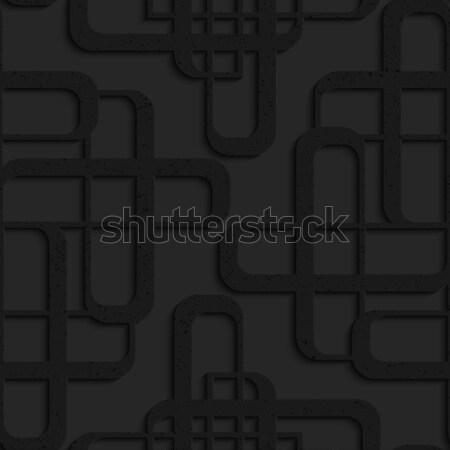 Czarny plastikowe futurystyczny streszczenie Zdjęcia stock © Zebra-Finch