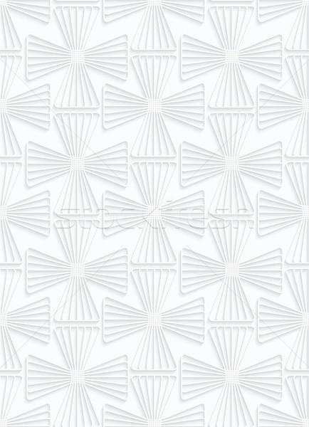 Biały papieru pasiasty krzyże geometryczny Zdjęcia stock © Zebra-Finch