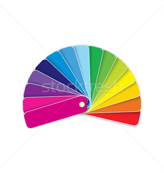 Swatches in rainbow vector Stock photo © Zebra-Finch
